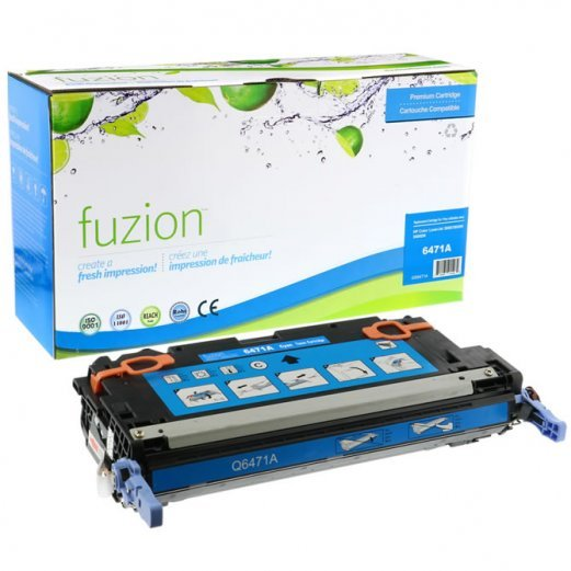 Cartouche Combo HP Q6471A No.501A / Canon No.117 (Cyan) Compatible