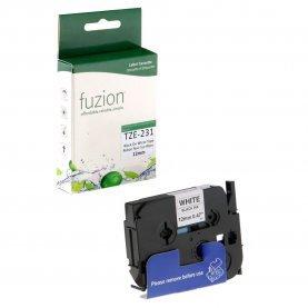 Ruban P-Touch TZE-231 12mm (Noir sur Blanc) Compatible