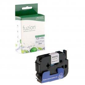 Ruban P-Touch TZE-241 18mm (Noir sur Blanc) Compatible