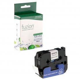 Ruban P-Touch TZE-251 24mm (Noir sur Blanc) Compatible