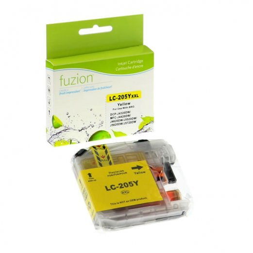 Cartouche Brother LC-205XXLY (Jaune) Compatible