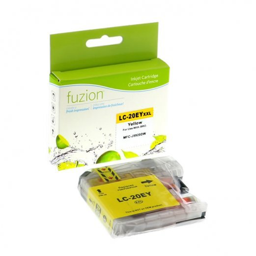 Cartouche Brother LC-20EY (Jaune) Compatible
